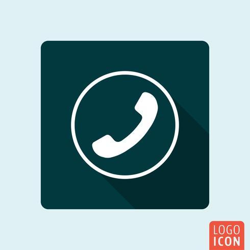 Icône de téléphone isolé vecteur