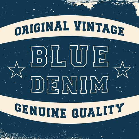 Étiquette denim vintage vecteur