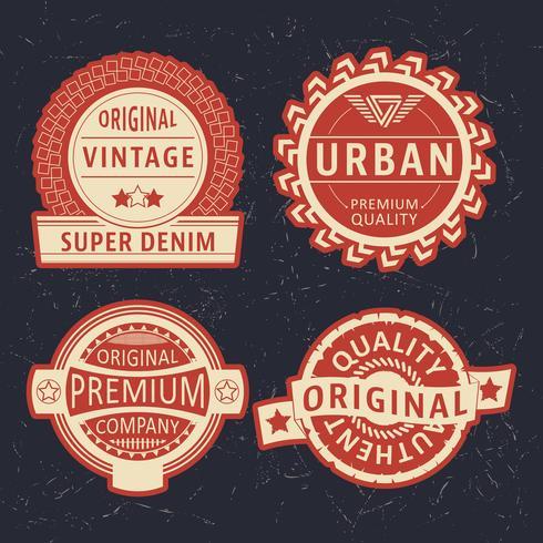 Jeu d'étiquettes vintage vecteur