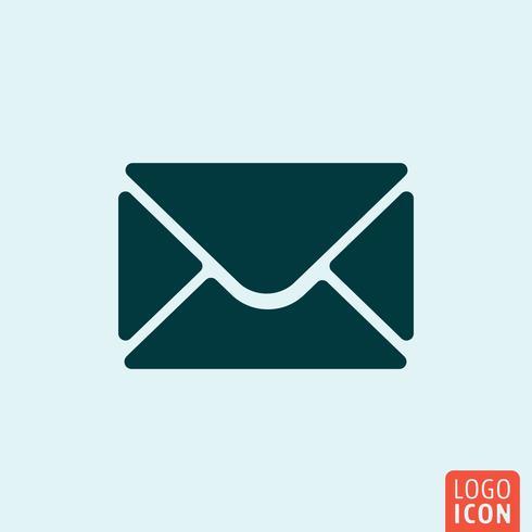 Icône d'enveloppe. Mail minimal design vecteur