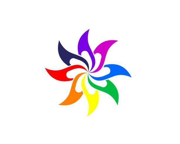 Signe de fleur de lotus pour le bien-être, le spa et le yoga. Illustration vectorielle vecteur