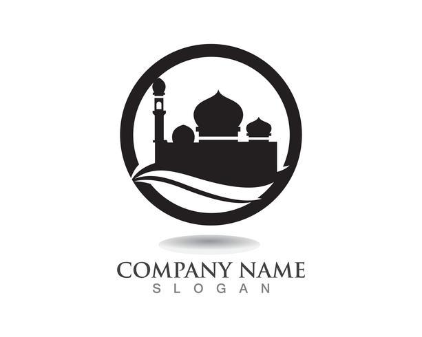 Mosquée icône vector Modèle de conception Illustration