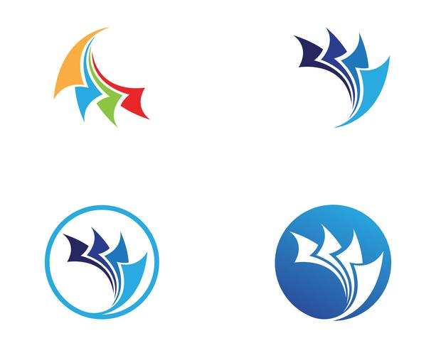 logo finance et symboles vector illustration concept ..