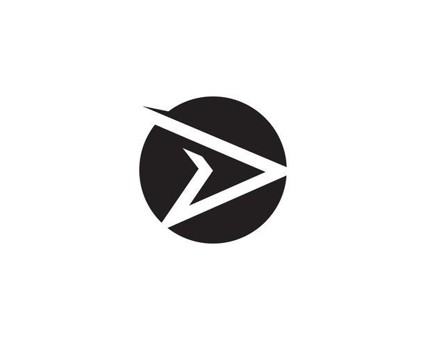 D logo plus rapide vecteur