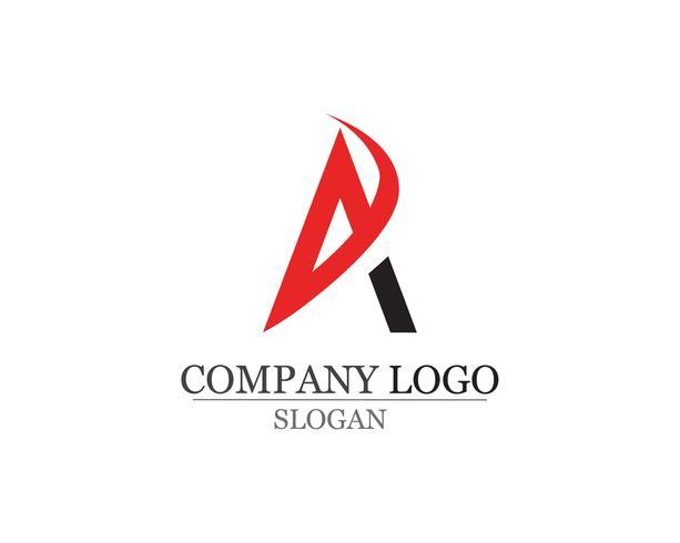 Icônes de vecteur d'une lettre Logo Business Template