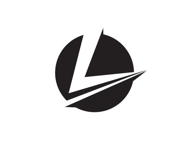 Logo et symboles de l'entreprise lettres V vecteur