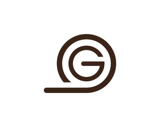 G lettres logo et symboles modèle app icônes .. vecteur