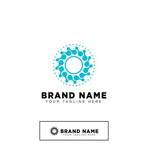 logo moléculaire design modèle vector illustration icône élément