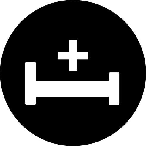 Icône de lit vecteur hospiatl