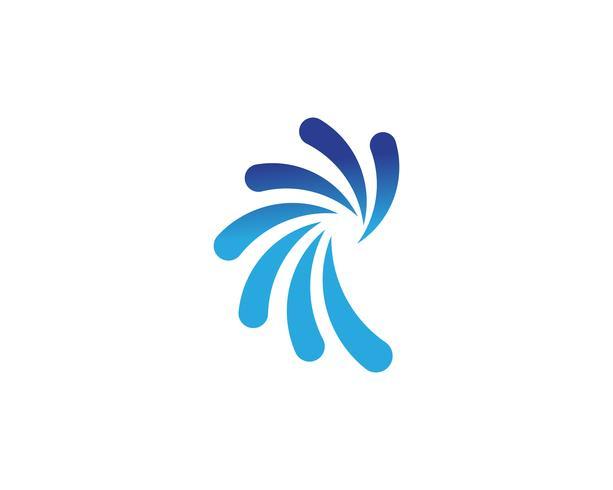 icônes de modèle logo cercle vortex et symboles vecteur