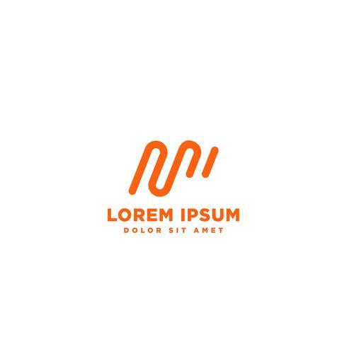 élément minimal M logo élément vector illustration icône élément isolé