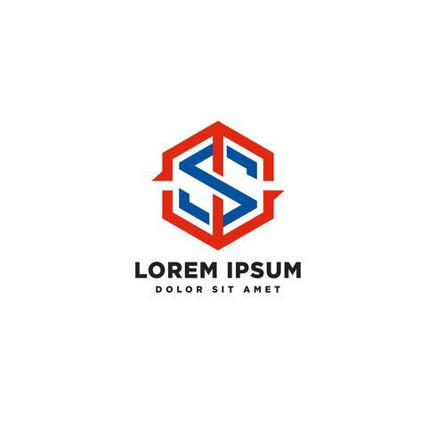 lettre s logo modèle avec élément icône de bouclier concept vector illustration
