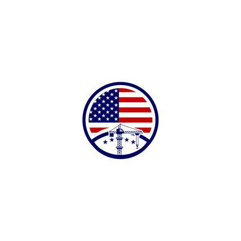 entrepreneur américain logo modèle vector illustration élément icône isolé