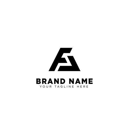 fa lettre logo type template vector illustration icône élément isolé