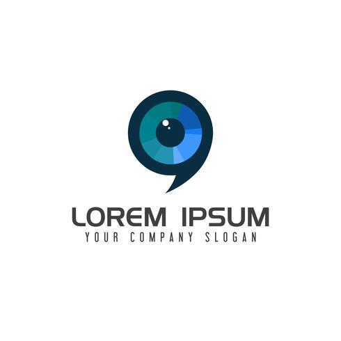 modèle de concept de conception de logo lentille Media vecteur