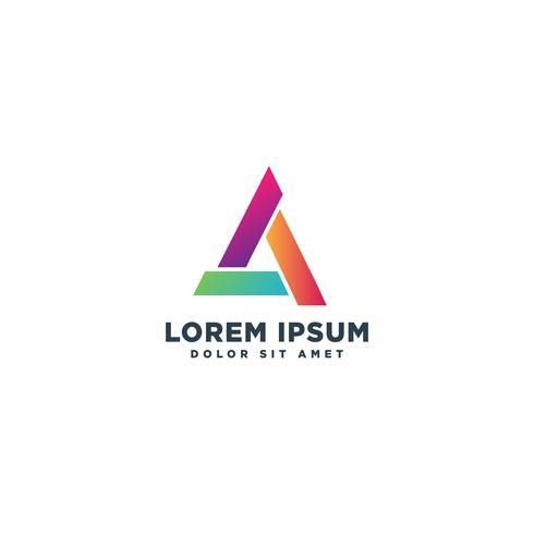 lettre un élément abstrait abstrait logo modèle vector illustration icône élément