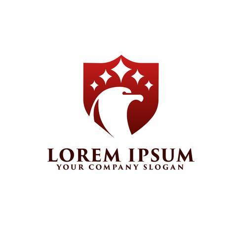logo de l'aigle de luxe. modèle de conception de bouclier vecteur