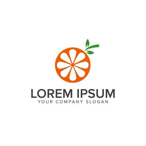 Modèle de concept de design logo fruits orange vecteur