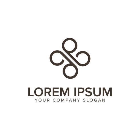 lettre x modèle de concept de design de logo minimaliste vecteur
