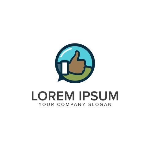 Modèle de concept de design logo main tumb vecteur
