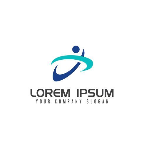 lettre x personnes logo. modèle de conception sport vecteur