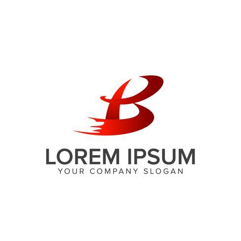 Modèle de concept de design lettre B logo vecteur