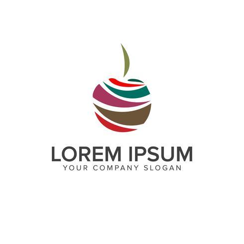 Modèle de concept de conception logo fruit multicolore vecteur