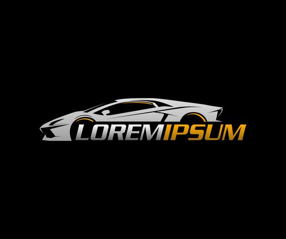 modèle de concept de design auto logo.sport voiture logo vecteur