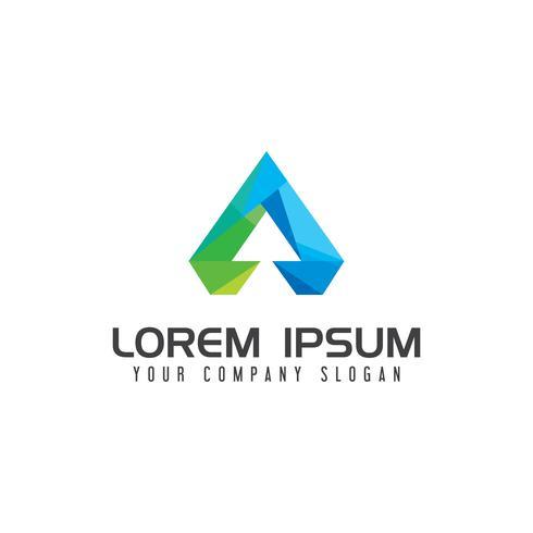 Lettre moderne Un modèle de concept de technologie Logo design vecteur