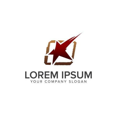 Modèle de concept de conception de logo Star vecteur