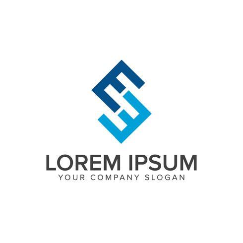 Logo de la lettre E. modèle de concept de design business finance vecteur