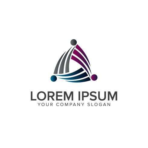 Logo d'entreprise et de conseil. concept de technologie logo design tem vecteur