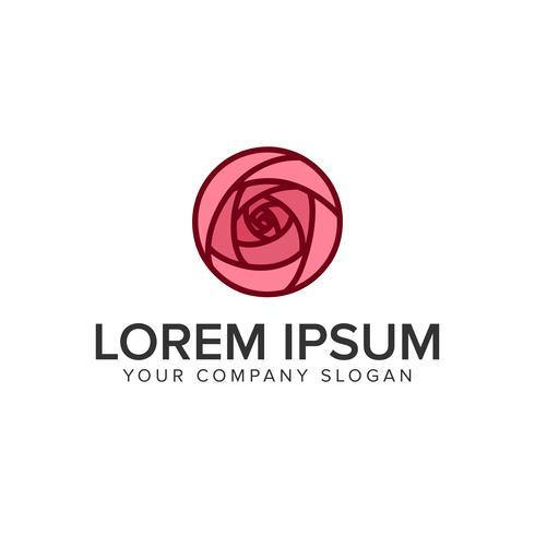 modèle de concept de conception logo fleur tulipe vecteur