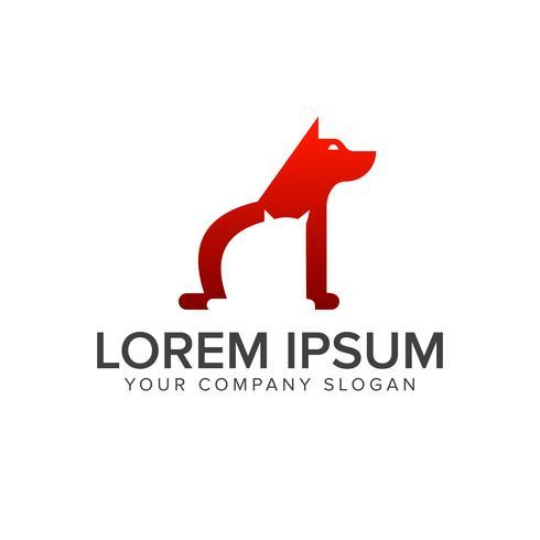 modèle de concept de chien logo médical design vecteur