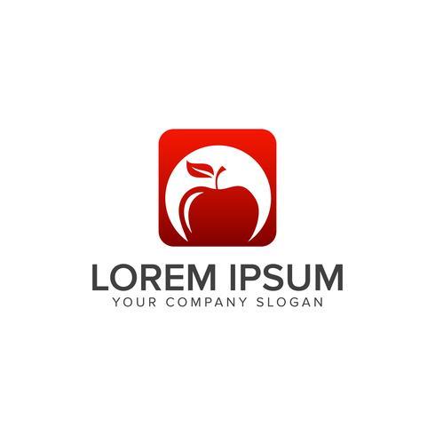 Modèle de concept de design Apple Fruit Logo vecteur