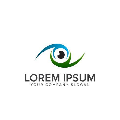 modèle de concept de conception de logo oeil vecteur