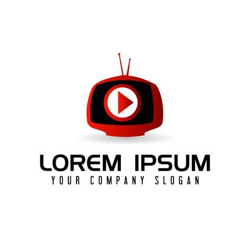 logo des médias. modèle de concept de conception de logo multimédia tv vecteur