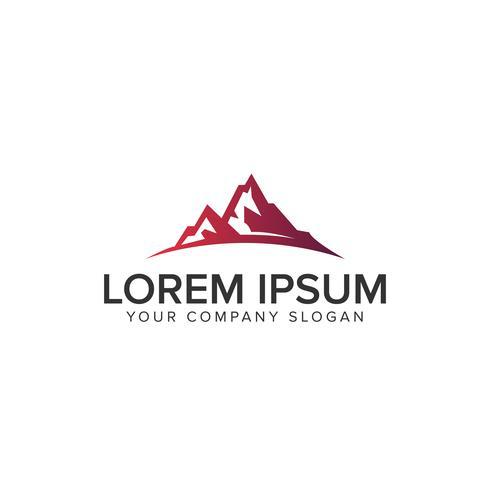 modèle de concept de design Logo luxe montagne moderne vecteur