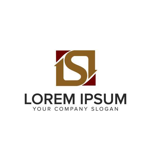 lettre S logo. modèle de concept design carré vecteur