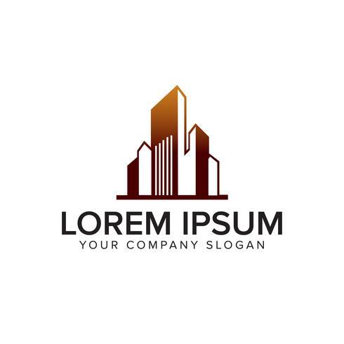 Hypothèque, architecture, construction, immobilier et logo logo desig vecteur
