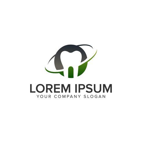 modèle de concept de conception de logo dentaire vecteur