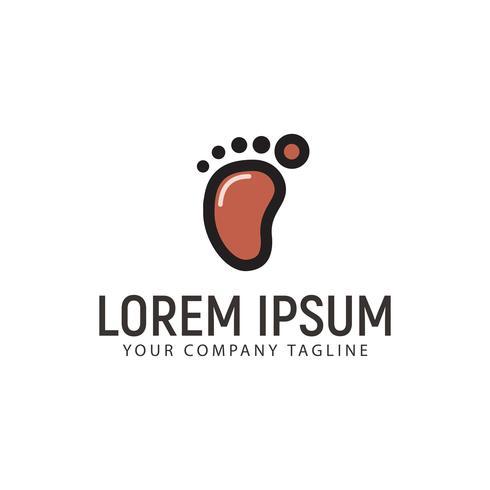 Modèle de concept de conception de logo d'empreinte minimaliste vecteur
