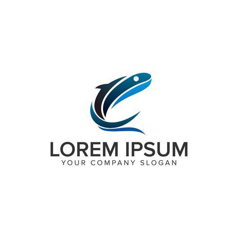 Baleines Modèle de concept de design Logo vecteur