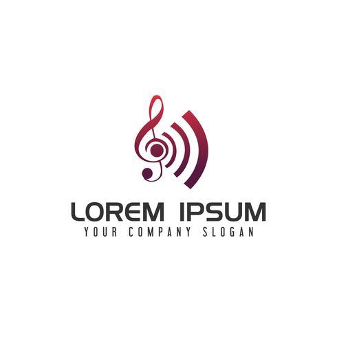 Modèle de concept de divertissement musique ton logo design vecteur