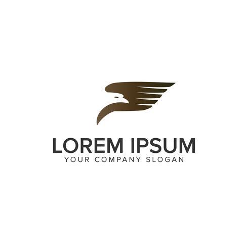 modèle de concept de design logo transport d'oiseau vecteur