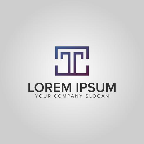 modèle de concept de design moderne luxe lettre T logo vecteur