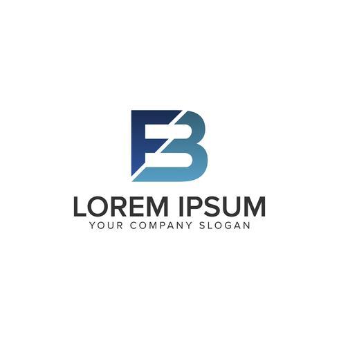 modèle de concept de lettre FB logo design vecteur