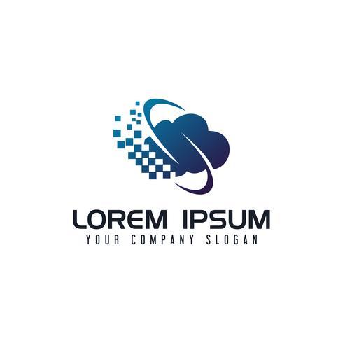 Modèle de concept Communications Internet cloud logo design vecteur