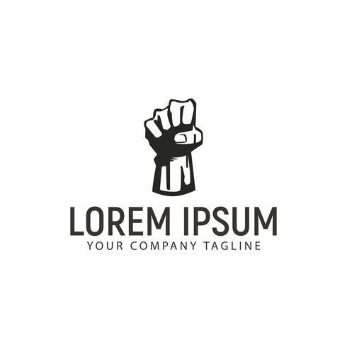 la main vers le haut la liberté modèle de concept de design de logo vecteur