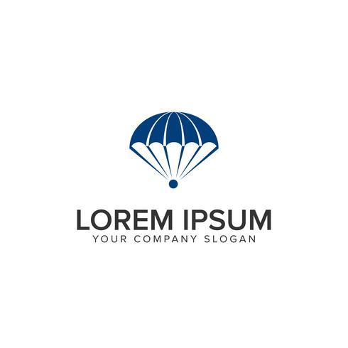 modèle de concept de conception de logo de parachutisme vecteur
